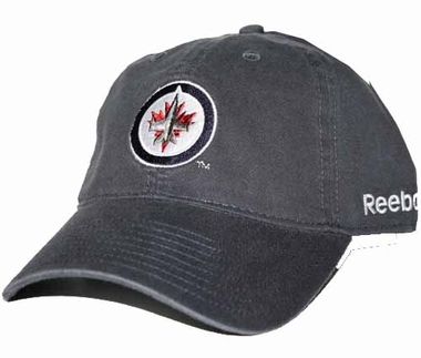 Winnipeg Jets Logo Team Slouch Adjustable Hat