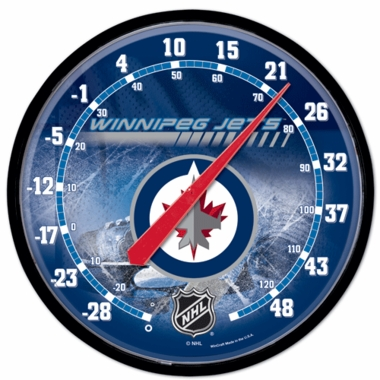 Winnipeg Jets Round Wall Thermometer