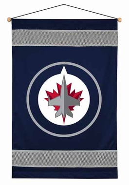 Winnipeg Jets SIDELINES Jersey Material Wallhanging