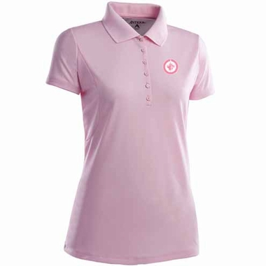 Winnipeg Jets Womens Pique Xtra Lite Polo Shirt (Color: Pink)