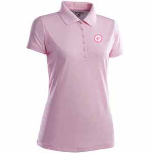 Winnipeg Jets Womens Pique Xtra Lite Polo Shirt (Color: Pink) - Medium
