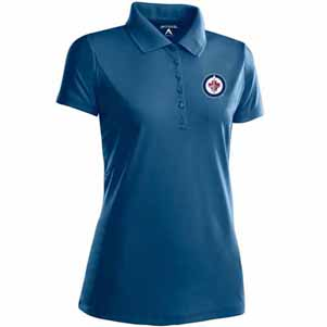 Winnipeg Jets Womens Pique Xtra Lite Polo Shirt (Color: Navy) - X-Large