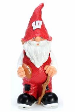 "Wisconsin Badgers Garden Gnome - 11"" Male"