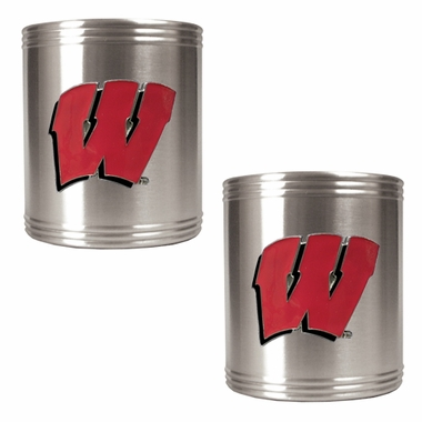 Wisconsin 2 Can Holder Set