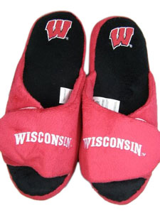 Wisconsin 2011 Open Toe Hard Sole Slippers - Small
