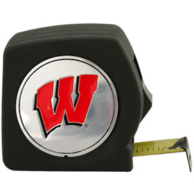 Wisconsin Badgers Black Tape Measure