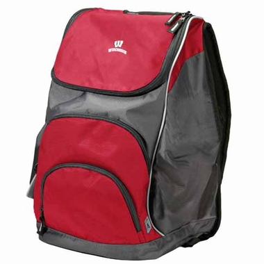 Wisconsin Action Backpack (Color: Red)