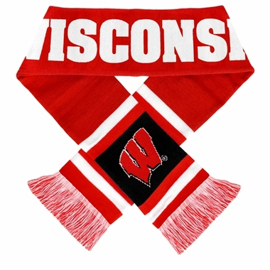 Wisconsin Badgers 2012 Team Stripe Knit Scarf