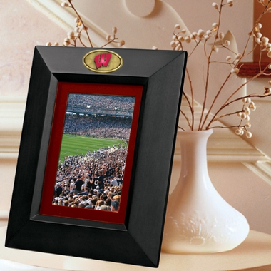 Wisconsin BLACK Portrait Picture Frame
