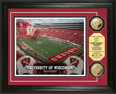 Wisconsin Badgers University of Wisconsin Stadium Gold Coin Photo Mint