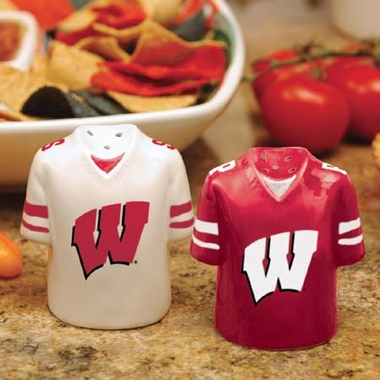 Wisconsin Ceramic Jersey Salt and Pepper Shakers