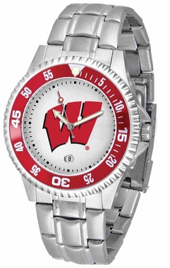 Wisconsin Competitor Steel Band Mens Watch