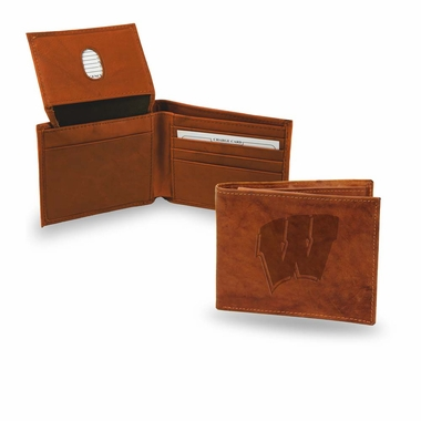 Wisconsin Embossed Leather Bifold Wallet