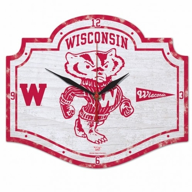 Wisconsin High Definition Wall Clock