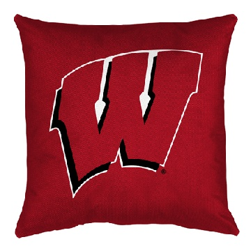 Wisconsin Jersey Material Toss Pillow