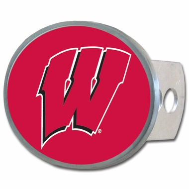 Wisconsin Oval Metal Hitch Cover