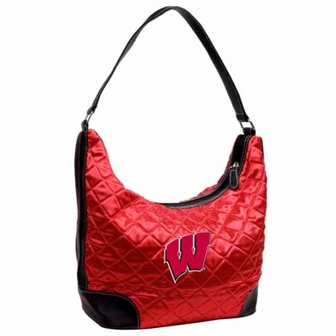 Wisconsin Quilted Hobo Purse