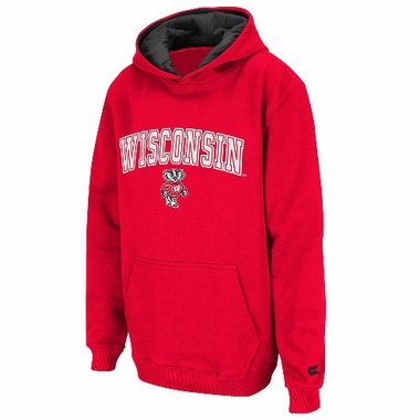 Wisconsin YOUTH Automatic Pullover Hooded Sweatshirt