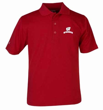 Wisconsin YOUTH Unisex Pique Polo Shirt (Color: Red)