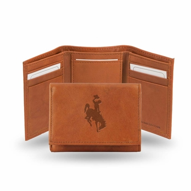 Wyoming Embossed Leather Trifold Wallet