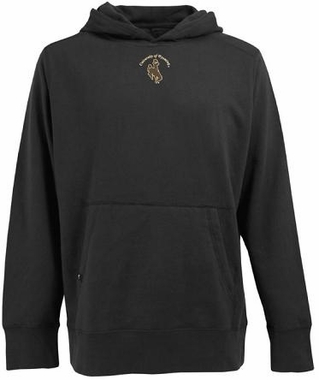 Wyoming Mens Signature Hooded Sweatshirt (Color: Black)