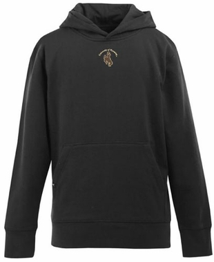 Wyoming YOUTH Boys Signature Hooded Sweatshirt (Color: Black)