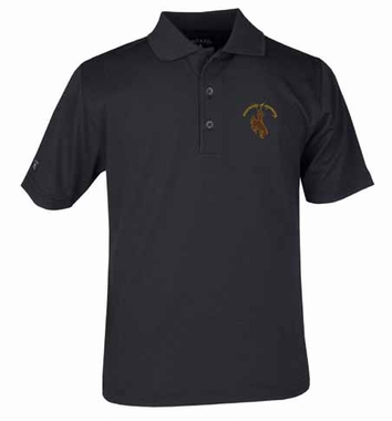 Wyoming YOUTH Unisex Pique Polo Shirt (Color: Black)
