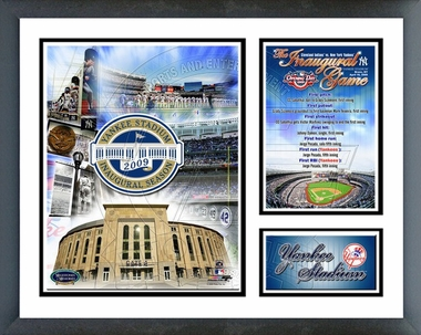 Yankee Stadium 2009 Inuagural Game Framed Milestones & Memories #193