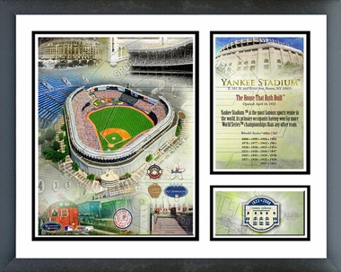 Yankee Stadium Final Season 2008 Framed Milestones & Memories #126
