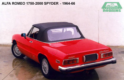 1971-1994 Alpha Romeo Spyder, Graduate Convertible Top with Plastic Rear Window