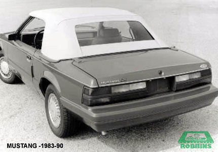 1983-1993 Ford Mustang Convertible Rear Plastic Window