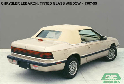 1987-1995 Chrysler Lebaron, Dodge 600 Rear Glass Window Without Defroster