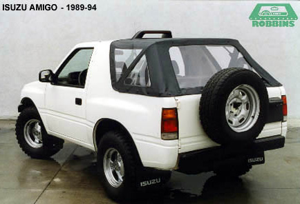 1989-1994 Isuzu Amigo Top, with Plastic Window.