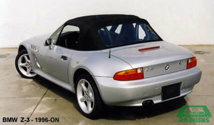 1996-Present BMW Z-3 Convertible Top, With Plastic Window