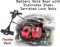 Battery Hold Down - w/SST Serrated Lock Nuts - Toyota Part