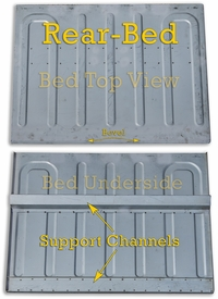 Bed - Rear - HFS� w/Support Channels - Fits - 75-78