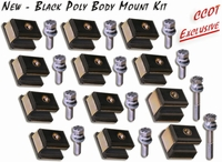 Body Mount Kit - Black Poly -  '58 to 12/78 - FJ/BJ-40