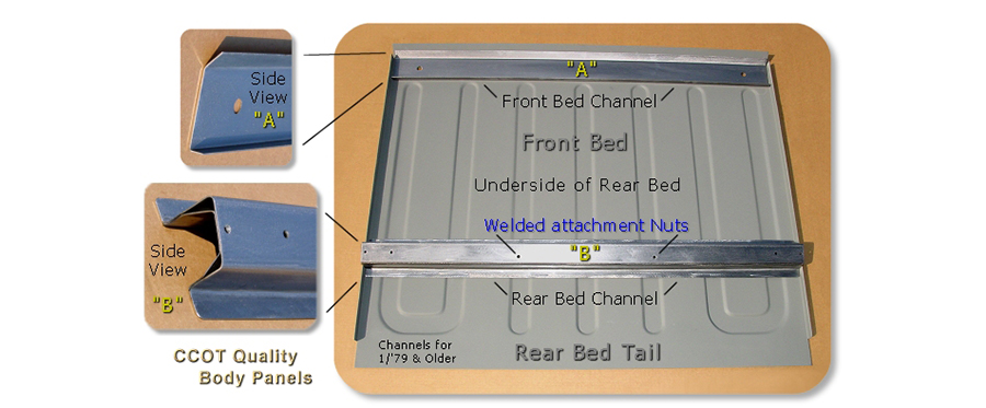 Bed Support Cross Channels FJ40