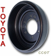 Brake Drum - 1ea -  1963-7/80 - TOYOTA