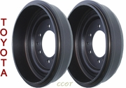 Brake Drum - Set of 2 ea - 1963-7/80 - TOYOTA