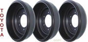 Brake Drum - Set of 3 ea -  1963-7/80 - TOYOTA