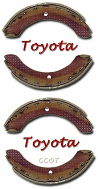 Brake Shoes - 4ea -  9/87-1/95 - TOYOTA