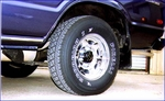 Click photo to see wheel, tire and under body, Large File
