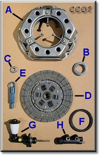 Clutch Master Kit - FJ40/45/55 - 8/70-9/74 - 3-Spd