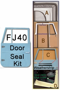 Door, Front ~ 2-Door Seal Kit ~ FJ40/45 ~ 63 - 74
