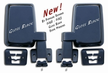 Door Mirror - Gloss Black - FJ60 FJ62 - Pair