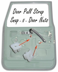 Door Nuts - Pull Strap Snap - N - Screw Nuts - Set of 4