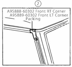 Door Packing #2 - Front Corner - Right & Left  Sides - Pair - Aft Mrkt