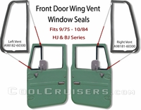Door Wing Vent Glass Seal - 9/75 - 10/84 - Aft Mrkt
