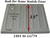 FJ40 Horseshoe Pattern Bed w/Hatch Door - Measurements